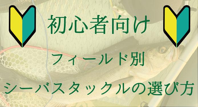 シーバスタックルの選び方【初心者編】おすすめロッド&リール紹介