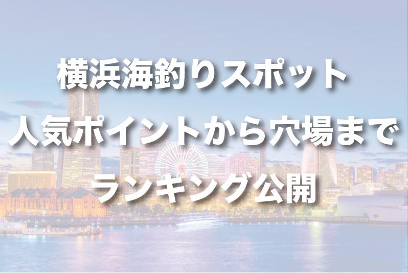 横浜海釣りスポット!人気ポイントから穴場までランキング公開!
